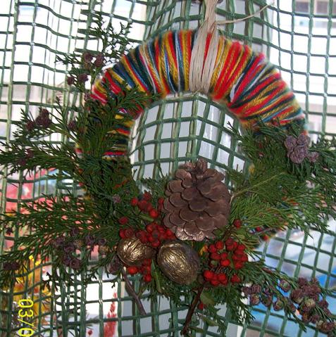 Zidni božićni ukras
